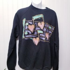 Women's Vintage 90s Musical Sweater Size XL